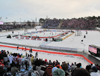 Open Air-Eishockey in Speedway-Stadion