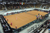 Fed-Cup-Match on special clay court system